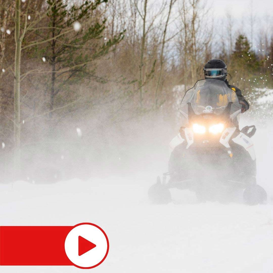 Snowmobiling in Eastern Manitoba