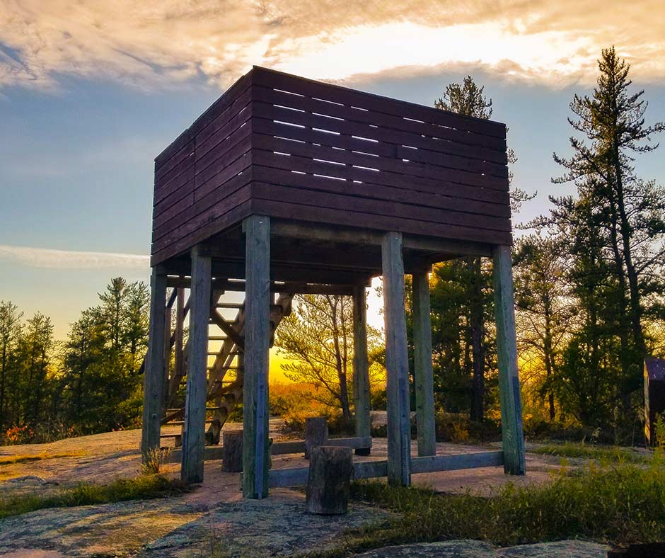 The Lookout Tower at Blueberry Rock Trail is worth the hike