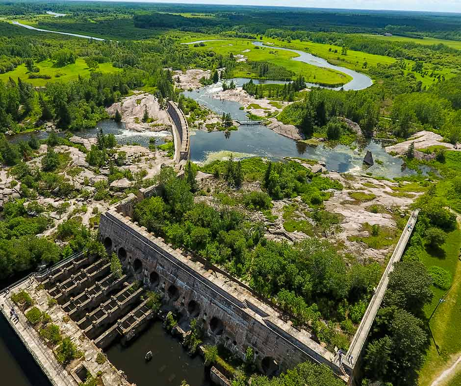 Stunning View of Old Pinawa Dam Provincial Heritage Park