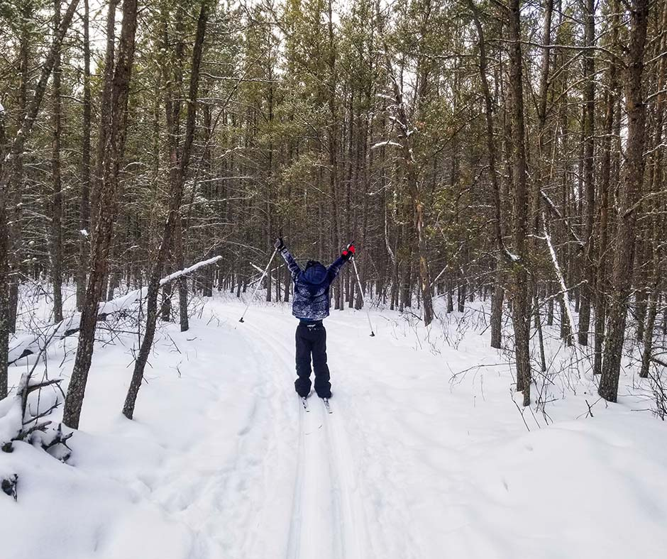 Skiing through the Agassiz Provincial Forest in Lac du Bonnet